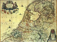 Kaart van de voormalige 7 Provinciën der Verenigde Nederlanden