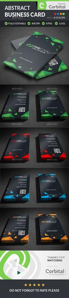 Modern Abstract Business Card Template PSD #design Download: http://graphicriver.net/item/modern-abstract-business-card/13644551?ref=ksioks