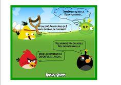 convite aniversário angry birds