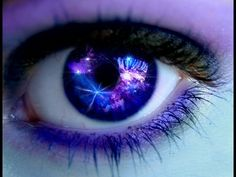Galaxy contacts with purple eye makeup probably not easy to see or wear for a long time but sure is pretty! Galaxy Eyes, Eye Contacts, Gorgeous Eyes, Pretty Eyes, Cool Eyes, Fantasy Magic, Eye Contact Lenses, Eyes Artwork, Crazy Eyes