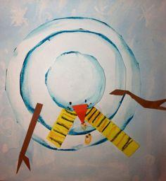 winter art projects, perspective art, art activities, winter act. 2nd Grade Art, Second Grade, Winter Art Projects, Craft Projects, Perspective Art, Ecole Art, Kindergarten Art, Art Classroom, Art Plastique
