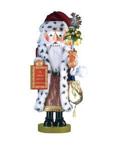 "Kurt Adler Limited Edition Steinbach 12 Days of Christmas Musical ""Pear Tree Santa"" Nutcracker, Multi at MYHABIT"