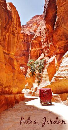 Visiting Petra, Jordan