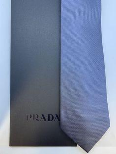 ec10ac765a3c PRADA mens tie new w/ box grey color made in italy #fashion #clothing