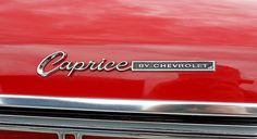 Caprice chromed - aesthetic vintage car sign