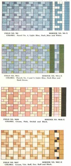 block-random-tile-1930s-vintage// Redo  2nd floor bathroom. Pattern on first floor bath.
