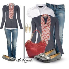 """Don't care for the shoes but I'm loving the outfit """"Classy Dots & Patent"""" by lv2create on Polyvore"""