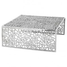 Table basse design FLORAL Aluminium 87x87x34
