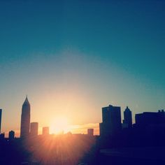 Atlanta Skyline in the morning - view from the fourth floor of the Campus Recreation Center.