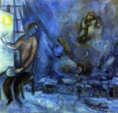 Marc #Chagall - Hommage au Passé (1944).