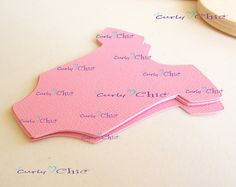 50 Baby Onesie Tags Size 3 In Non-textured or by CurlynChic