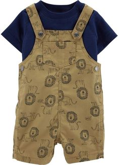 Lion /'Roar/' Baby Boys Dungarees /& Striped Top Set 12-18 months