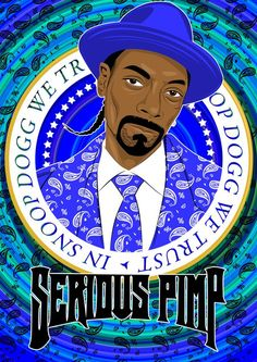 digital art done for Snoop Dogg / Serious Pimp