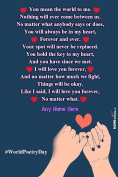 Romantic Love Poetry For Lovers With Name Edit