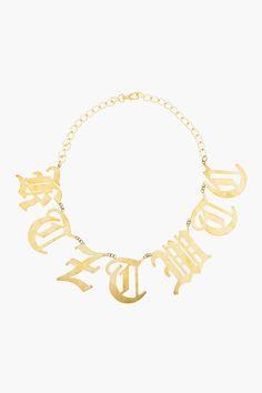 KTZ Gold Cut-Out Letter Necklace