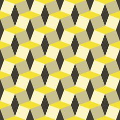 Geometric Pattern Graphic available in EPS vector format // 3d, background, decor, decoration, geometric, modern, pattern, seamless, shapes, stairs, vector, wallpaper, yellow