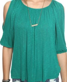 peekaboo shoulder - F21