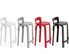 stool k65 designed by Alvar Aalto, 1935 and made in Finland by Artek