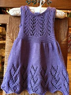 Ravelry: Project Gallery for Vine Flower Child's Dress pattern by Anne Hanson