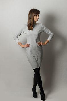 Kleider - Sweatkleid mit Loop Schal! - ein Designerstück von AfterHours bei DaWanda