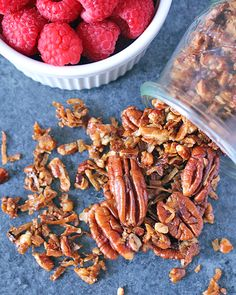 Paleo Pecan Pie Granola Paleo Recipes, Real Food Recipes, Yummy Food, Yummy Recipes, Paleo Pecan Pie, Gluten Free Granola, Paleo Breakfast, Breakfast Ideas, Paleo Dinner