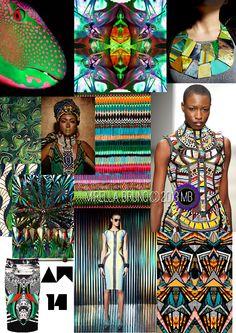Mirella Bruno Print Design Project Direction Boards SS/2014.