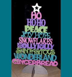 Scroll Saw Patterns :: Holidays :: Christmas :: Trees :: Tree of words -
