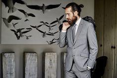 Dynamic Suit #mey #edlich #Suit #monochrome