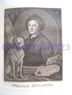WILLIAM HOGARTH XRARE ANTIQUE ENGRAVING ca. 1790 #Vintage
