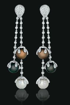 Black Brown White South Sea Pearls