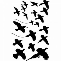 Ranger Ink Dina Wakley Media Stencil - Birds in Flight Birds Painting, Graphic Projects, Gourd Art, Ranger Ink, Black N White Images, Art, Stencil Template, Paper Art, Stencils