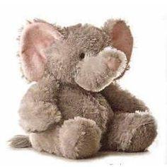 "Elephant Tubbie Wubbie - 12"" by Aurora - 30863-AR  A stuffed grey elephant with soft pink ears from Tubbie Wubbie collection."