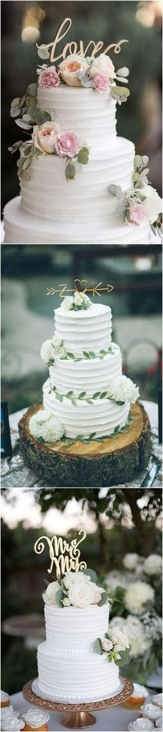Classic Elegant Wedding Cakes / http://www.deerpearlflowers.com/amazing-wedding-cake-ideas/