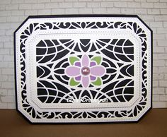 Ann Greenspan's Crafts: Sue Wilson Ornate Pierced Rectangles -- Card 1