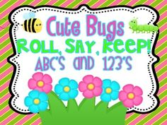 One of my Kinders' favorite games!! Adorable Spring/Bug themed graphics! Included:Cover page-you can adhere to a file folder or an envelope t...