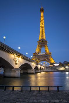 Eiffel Tower along River Seine, Paris, France. Places to visit- How cool this is!