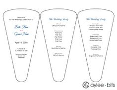 Downloadable templates for making paper fans/wedding