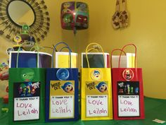 Disney's Inside Out Party Bags