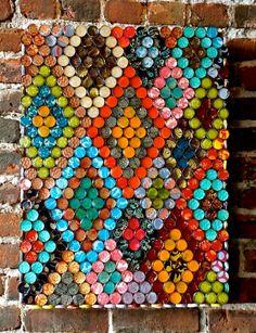 Bottle cap wall art
