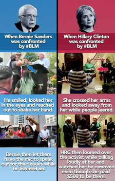 """Thanks for these neighborly shares to consider for stronger leading truth: """"true democracy in action, allowing people to have a voice""""… with #Bernie Sanders' yielding to listen to distressed neighbors with #BLM #truth sharing, while #HRC does not & allows her secret service to escort the peaceful protesting & legitimately concerned with $Hillary's inconsistent supporting neighbor. #EnoughIsEnough #NotMeUS VoteForBernie.org"""