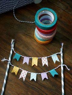 Flag Garland, Party Garland, Diy And Crafts, Paper Crafts, Upcycled Crafts, Summer Crafts, Fall Crafts, Fabric Crafts, Christmas Crafts