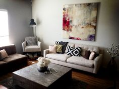 simple living room.