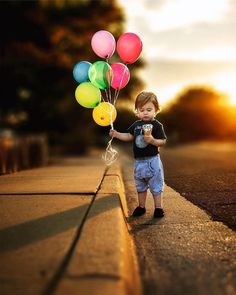 *Photography is a story that fails to be told through words* . Toddler Boy Photography, Outdoor Baby Photography, Balloons Photography, Children Photography, Heart Photography, Outdoor Baby Pictures, Baby Boy Pictures, Baby Photos, 2nd Birthday Photos
