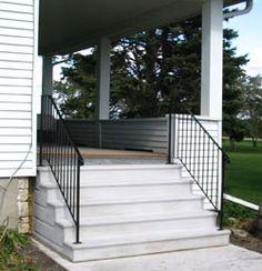 1295a7f5e72cb59957658ec9fb84351d--concrete-steps-railings Raised Mobile Home Foundation on