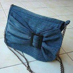 Jeans/denim bow purse
