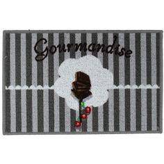 Disponible sur Maisondulinge.fr Tapis Gourmandise 40x60 cm Cerise Gris Clair