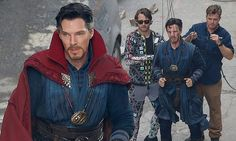 Benedict Cumberbatch straps in for aerial Avengers stunt