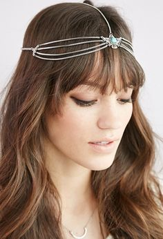 Shop Women's Hair Accessories at Forever 21 for the perfect final touch. Browse printed headwraps, mini hair clips, faux pearl hair pins, sleek headbands & more. Chain Headpiece, Forever 21, Head Jewelry, Turquoise Pendant, Couture, Playing Dress Up, New Outfits, Women Accessories, Beauty