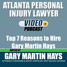In this segment of the Atlanta Personal Injury Lawyer Podcast, Gary Martin Hays talks about what you can expect to happen when you hire our firm and what are some benefits of working with an attorney if you have been injured.  Learn more: http://www.garymartinhays.com