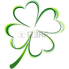 vector illustration of green clover picture Stock Vector